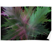 Purple veined leaves Poster