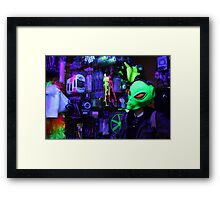 alien abduction glowing photo Framed Print