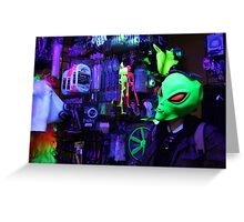 alien abduction glowing photo Greeting Card