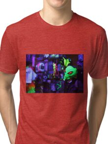 alien abduction glowing photo Tri-blend T-Shirt