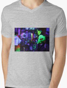 alien abduction glowing photo Mens V-Neck T-Shirt