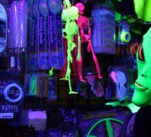 alien abduction glowing photo Sticker