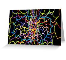 Glowing Rainbow Web Greeting Card
