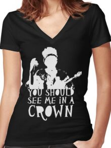 You Should See Me in a Crown Women's Fitted V-Neck T-Shirt