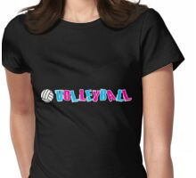 Neon Volleyball Womens Fitted T-Shirt