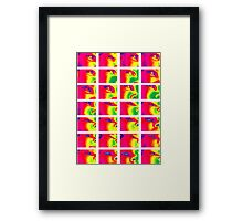 The Eye rainbow Framed Print