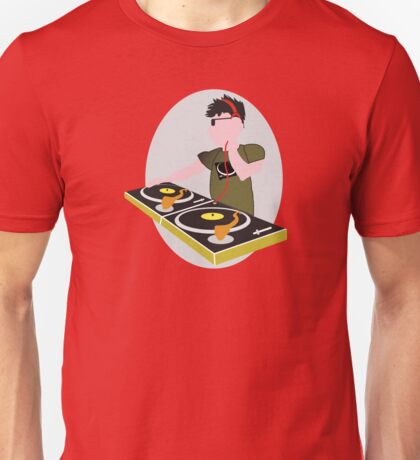 Cartoon DJ on Decks Unisex T-Shirt