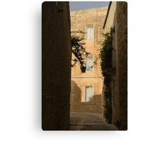 The Sunny Side of the Street - Mdina, the Ancient Capital of Malta Canvas Print