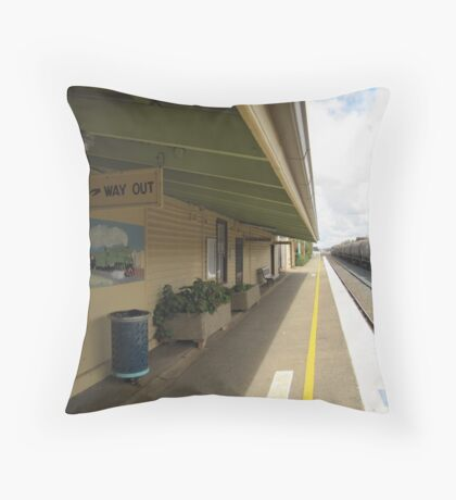 'Uranquinty Railway Station' country town, N.S.Wales. Throw Pillow