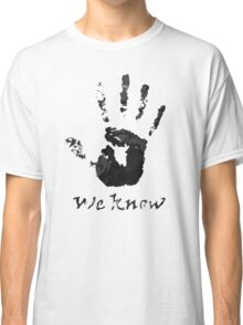 We Know Letter (BLACK AND WHITE) - The Dark Brotherhood Classic T-Shirt