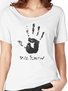 We Know Letter (BLACK AND WHITE) - The Dark Brotherhood Women's Relaxed Fit T-Shirt