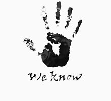 We Know Letter (BLACK AND WHITE) - The Dark Brotherhood T-Shirt