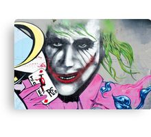 Graffiti Joker Canvas Print