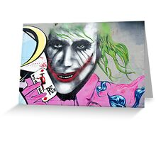 Graffiti Joker Greeting Card