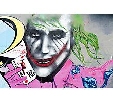 Graffiti Joker Photographic Print