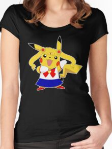 Sailor Pikachu Women's Fitted Scoop T-Shirt