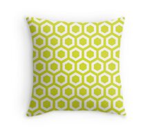 Chartreuse Hexagons Throw Pillow