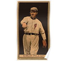 Benjamin K Edwards Collection William Scanlon Philadelphia Phillies baseball card portrait Poster