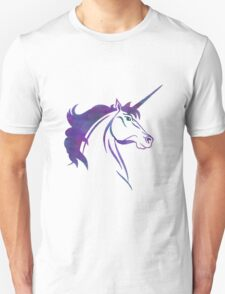 Unicorn - Blue Watercolor Unisex T-Shirt