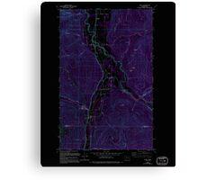 USGS Topo Map Washington State WA Acme 239727 1980 24000 Inverted Canvas Print