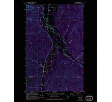 USGS Topo Map Washington State WA Acme 239727 1980 24000 Inverted Photographic Print