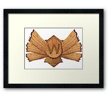 Demoted to Wood V ! Framed Print