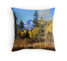 """Mountain Meadow"" Throw Pillow"