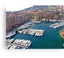 Monaco Marina Canvas Print