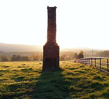 Abandoned Chimney At Sunrise by DonCondley