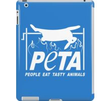 People Eat Tasty Animals PETA Parody Logo iPad Case/Skin