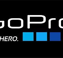 Go Pro Be A Hero Logo by lifetree