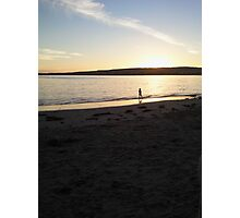 Sunset over victor Harbour Photographic Print