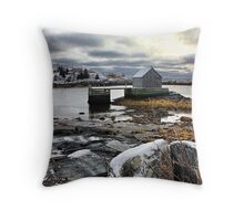 Winter at Blue Rocks Throw Pillow