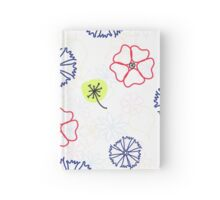 Naive floral summer pattern Hardcover Journal