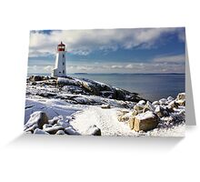 Snow Capped Peggy's Greeting Card