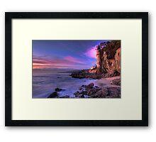 Victoria Beach at Dusk Framed Print