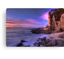 Victoria Beach at Dusk Canvas Print