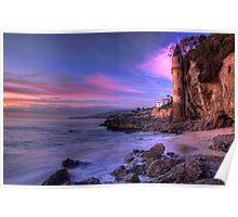 Victoria Beach at Dusk Poster