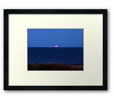 Super Moon Rising 3/19/11 Framed Print