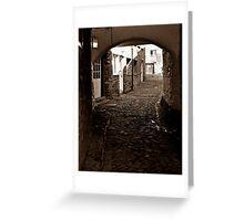 cobblestone lane Greeting Card