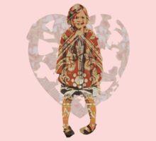 Heart Heart our little girls One Piece - Short Sleeve