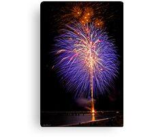 Purple Fireworks, Busselton 2012 Canvas Print
