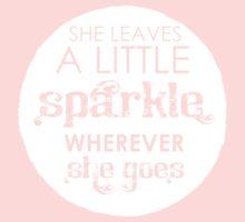 She leaves a sparkle wherever she goes Kids Tee