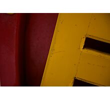 Coloured Carriage Seat Photographic Print
