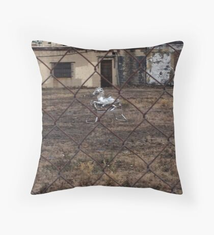 The Silver Hobby Horse - 5 Throw Pillow