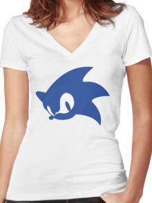 Sonic Logo Women's Fitted V-Neck T-Shirt