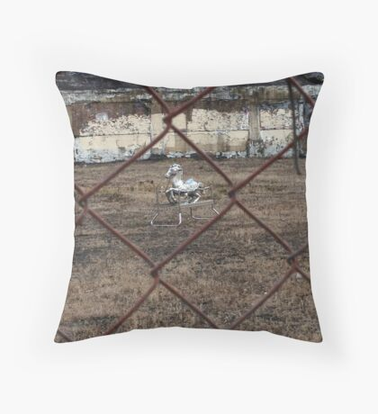 The Silver Hobby Horse - 4 Throw Pillow