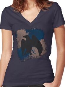 Raaaaaavenclaw! Women's Fitted V-Neck T-Shirt
