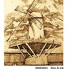 Windmill sketch by Dan Wilcox