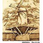 Windmill sketch by Dan Wilcox